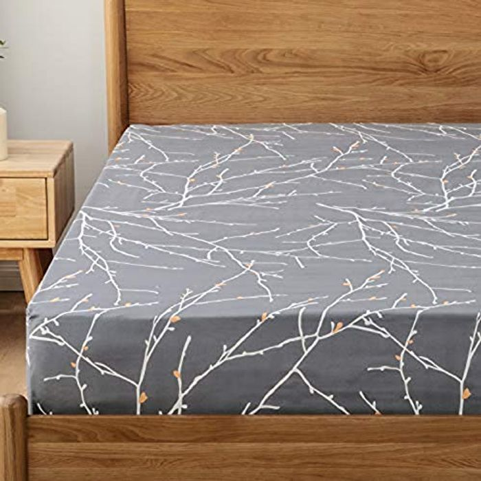 Bedsure Fitted Sheet Double Bed Extra Deep 40cm