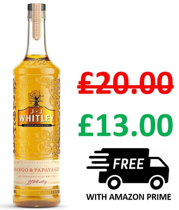 35% OFF! J.J. Whitley Mango & Papaya Gin 70cl - SAVE £7.00
