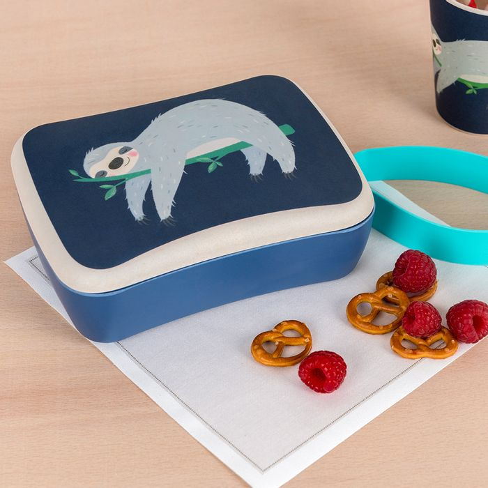 Cheap Sydney the Sloth Kids Bamboo Lunch Box - SAVE £9!