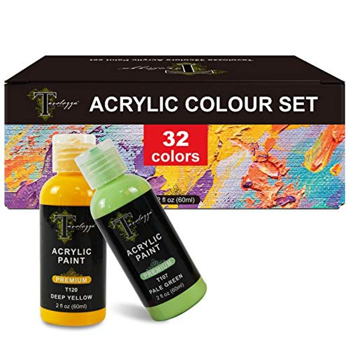 Acrylic Colour Set - Contents Include 32 X 60ml