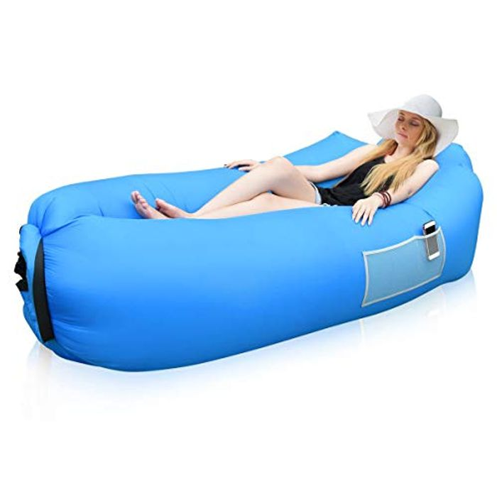 Comfortable Air Sofa Hammock with Headrest Inflatable Lounger - Only £14.99!