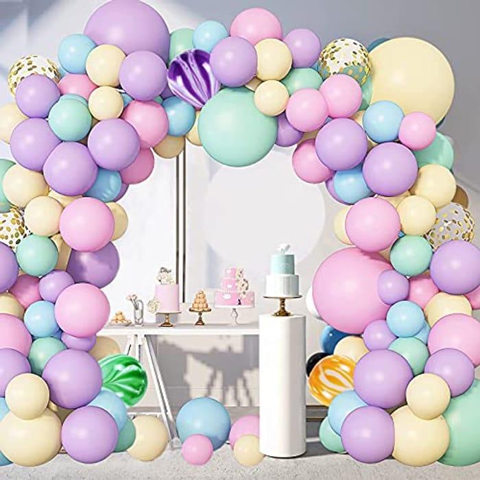 Pastel Rainbow Balloon Arch Kit, 139pcs