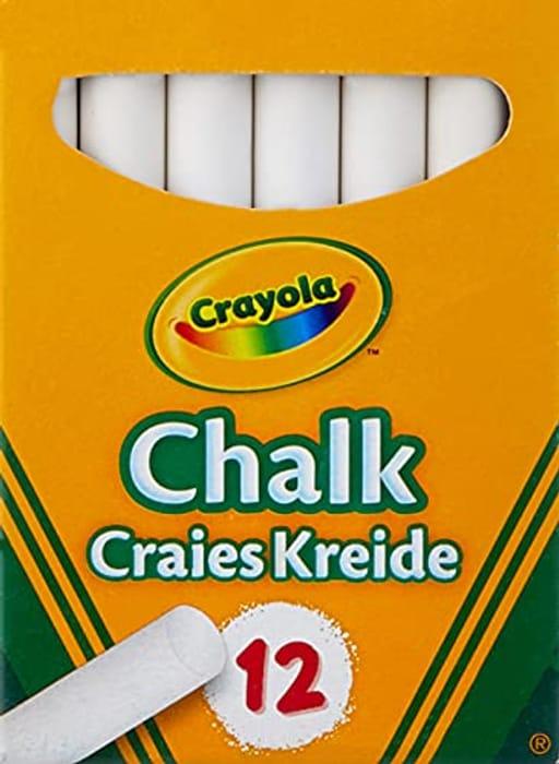 CHEAP! Crayola - Anti Dust 01.0280.10 White Chalk