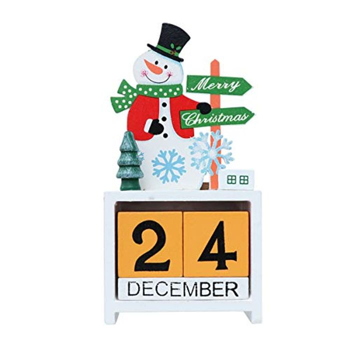 VOSAREA Christmas Wooden Calendar