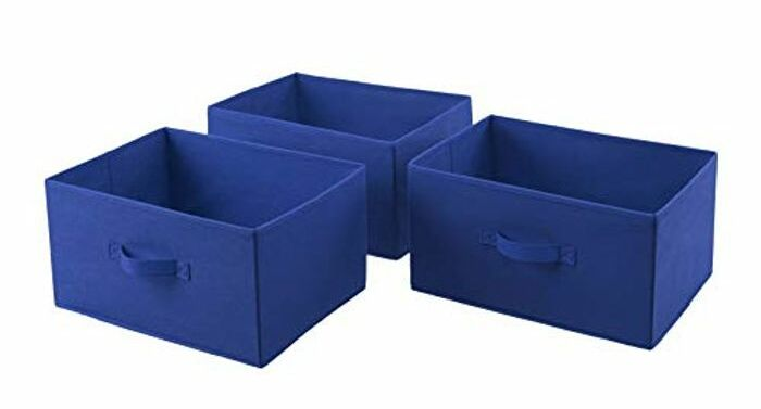 Amazon Basics Set of 5 Fabric Storage Organisers 41 cm x 28.5 cm x 21.1 cm