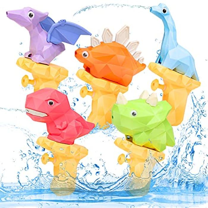 YIMORE 5 Pack Dinosaur Water Pistols