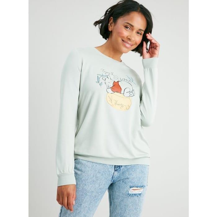 Disney Winnie the Pooh Green Sweatshirt