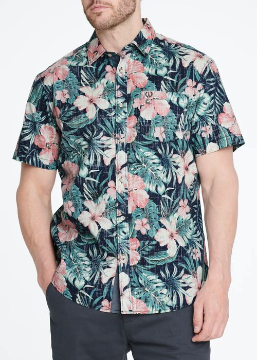 Lincoln Short Sleeve Floral Shirt, Free C&c