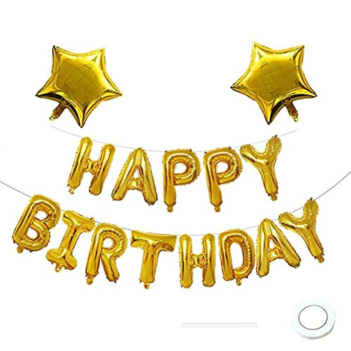 Happy Birthday Balloons, Happy Birthday Banner - Only £1.99!