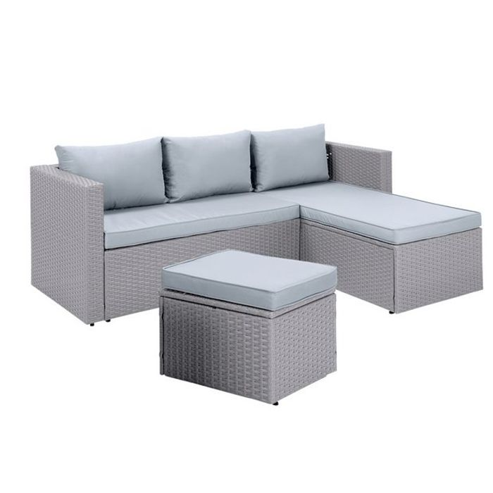 Habitat Mini Corner Sofa Set with Storage - Grey