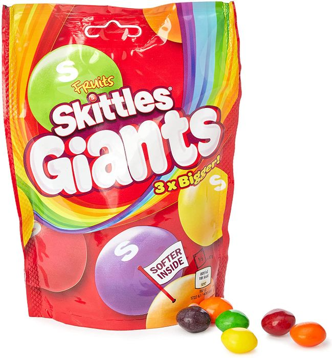Wrigley's Skittles Giants Fruit Sweets Pouch Bag, 141g