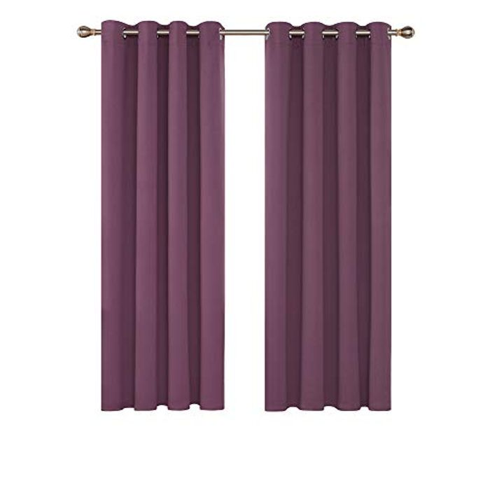 LIGHTNING DEAL - Deconovo Thermal Insulated Noise Reducing Blackout Curtains