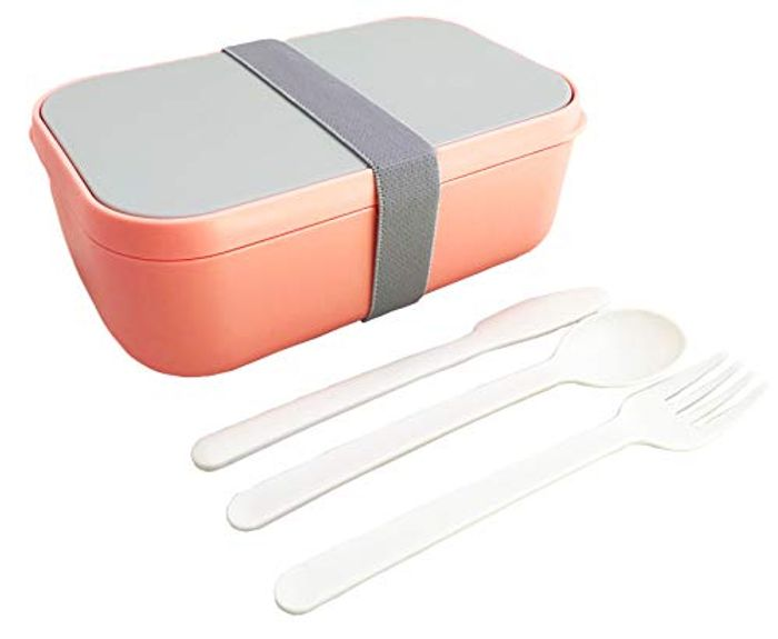 Bento Lunch Box and Food Container for Adults Kids with Cutlery - Only £6.49!
