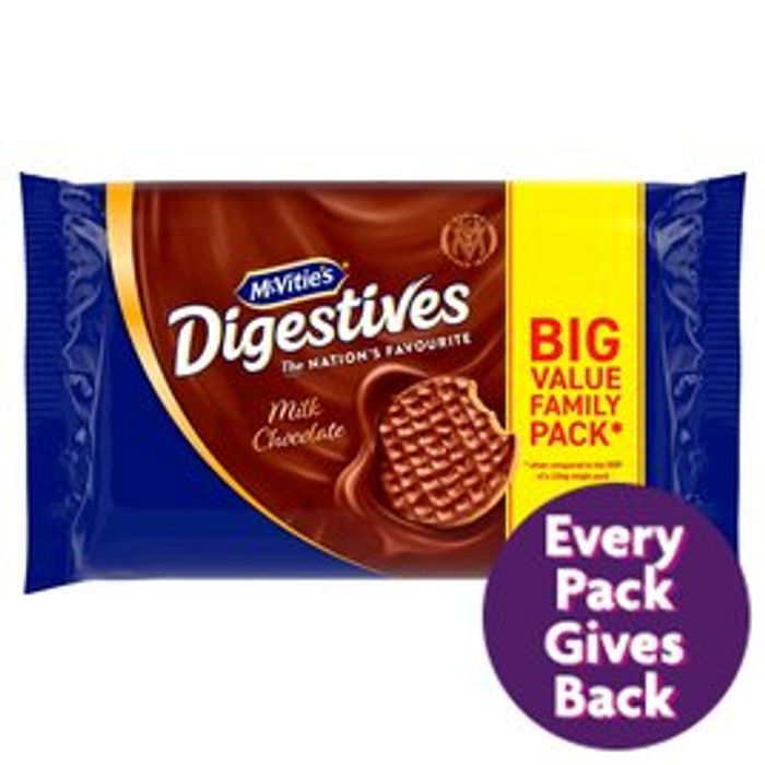 McVitie's Digestives Milk Chocolate Twin Pack 2 X 316g