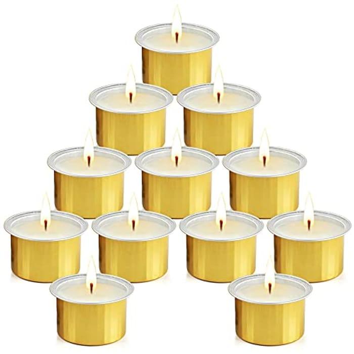 LIGHTNING DEAL - Large Citronella Candles (Golden, 12 Pack)