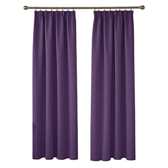 Deconovo Pencil Pleat and Rod Pocket Blackout Curtains with Coupon