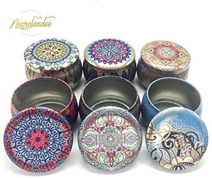 NICROLANDEE 6 Pack Candle Making Jars