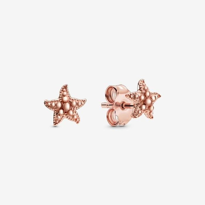 Pandora Rose-Gold Plated Starfish Stud Earrings Only £22 Delivered