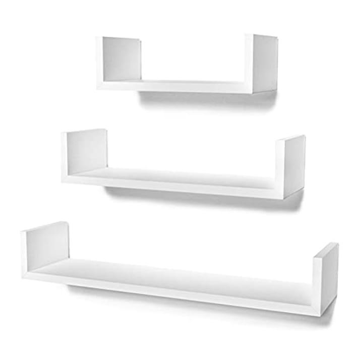 STOREMIC 3 Pack Floating Shelves - 60cm, 45cm, 30cm