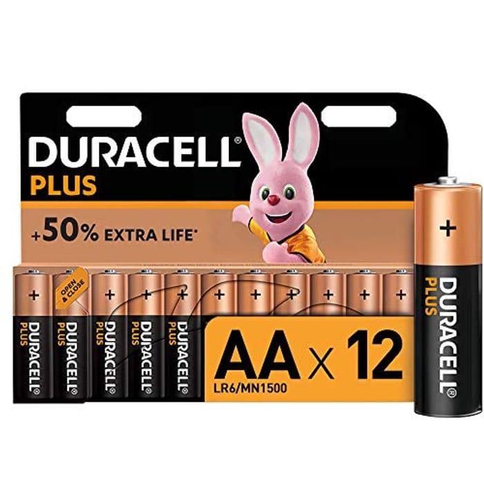 Duracell plus AA Alkaline Batteries [Pack of 12]
