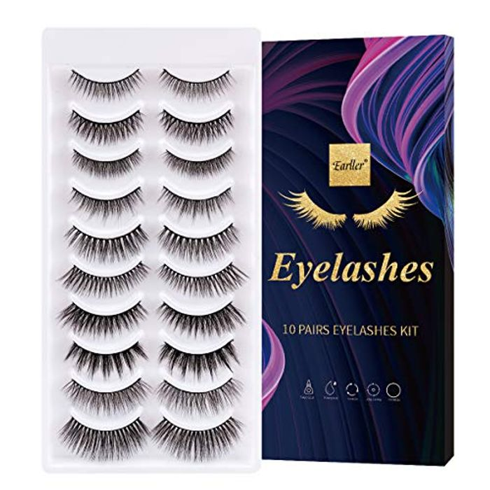 10 Pairs False Eyelashes including 3D and 6D