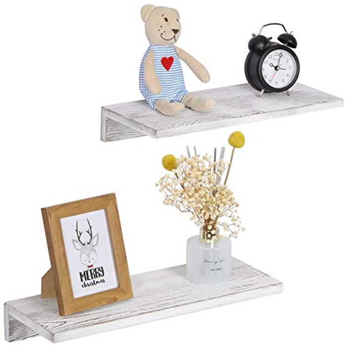 OROPY Floating Shelves Wall Mounted Set of 2 - Only £4.99!