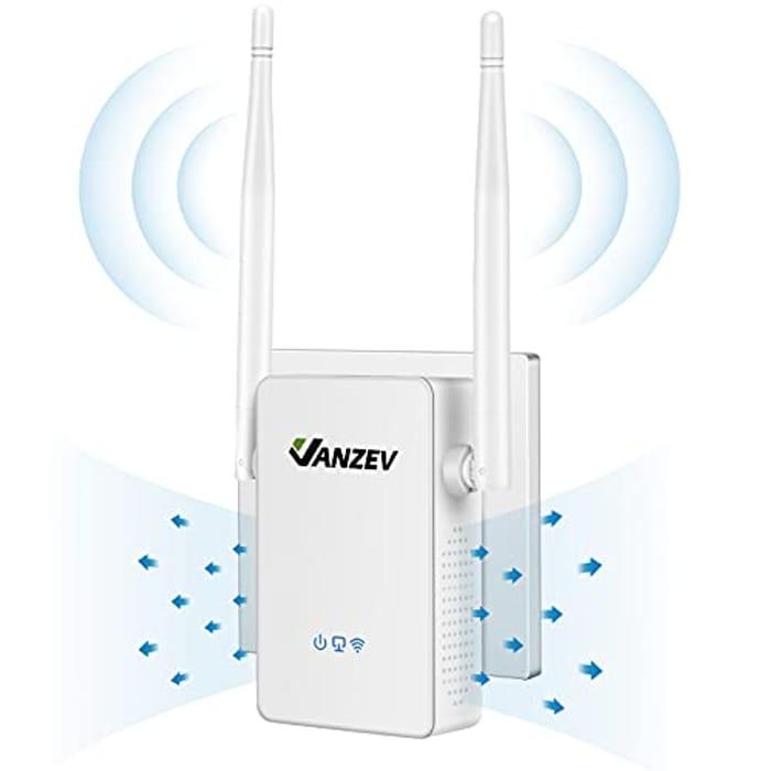 DEAL STACK - VANZEV Wifi Booster Range Extender 1200Mbps + £5 Coupon