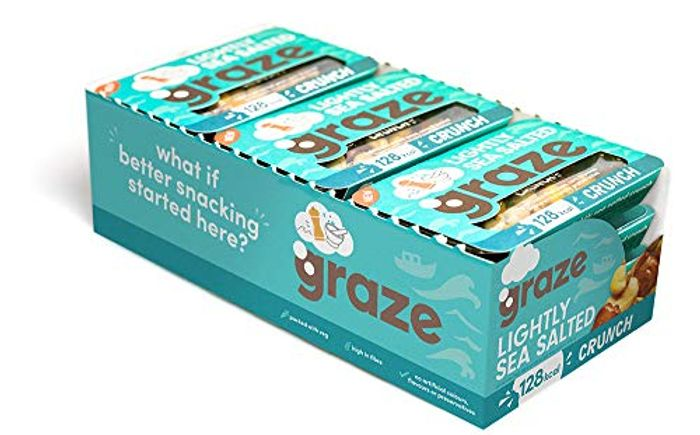 Graze Lightly Sea Salted Crunch (Pack of 9)