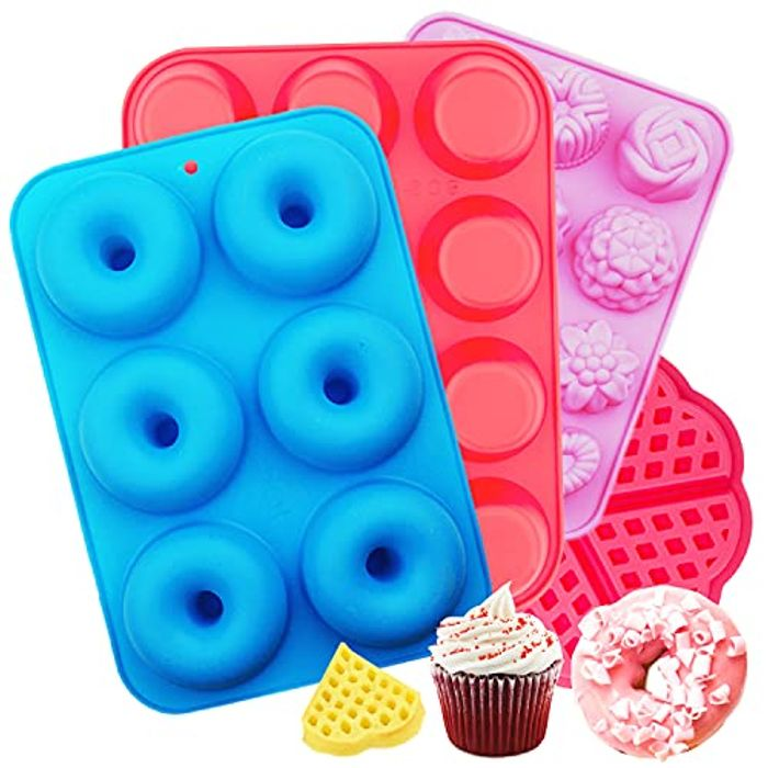 50% off Voucher for 4 Pack Silicone Donut Mould Set
