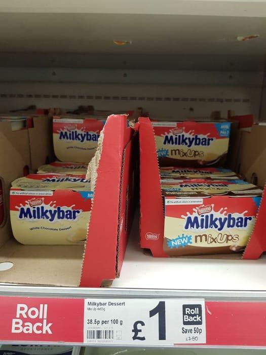 Milkybar Mixups White & Milk Chocolate Dessert  4x65g