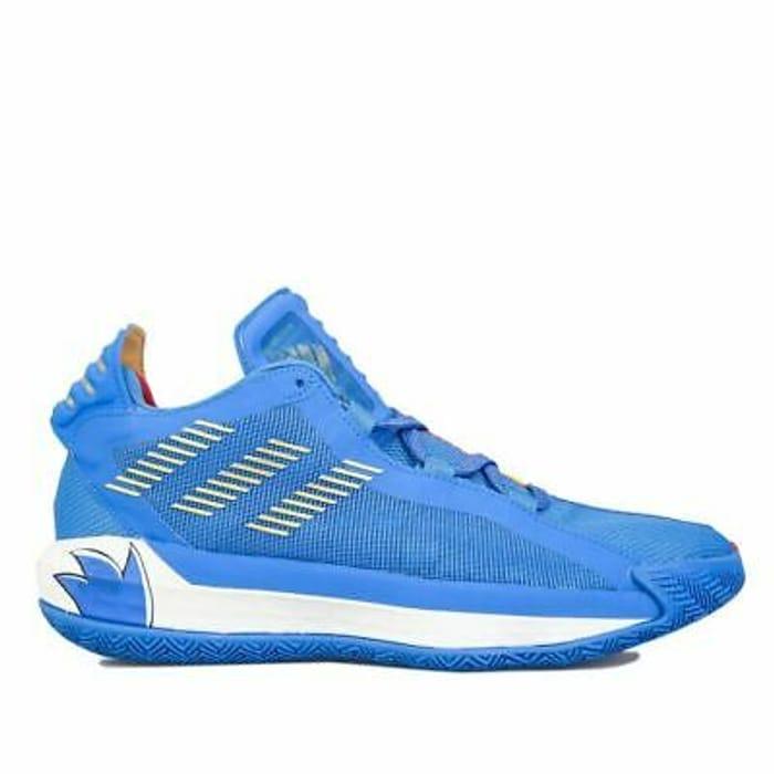 Men's Adidas Dame 6 Damian Lillard Sonic Collab Basketball Trainers In