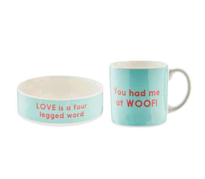 Ceramic Dog Bowl and Mug Gift Set - 40% off at Aldi
