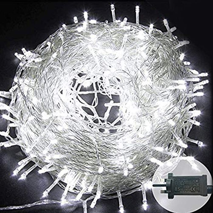 DEAL STACK - Plug in 500 LED 165ft 8 Modes Wire String Fairy Lights + 30% Coupon