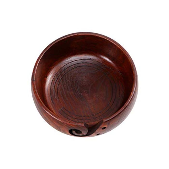DEAL STACK - VOSAREA Wood Yarn Non Slip Crochet Storage Bowl + 10% Coupon