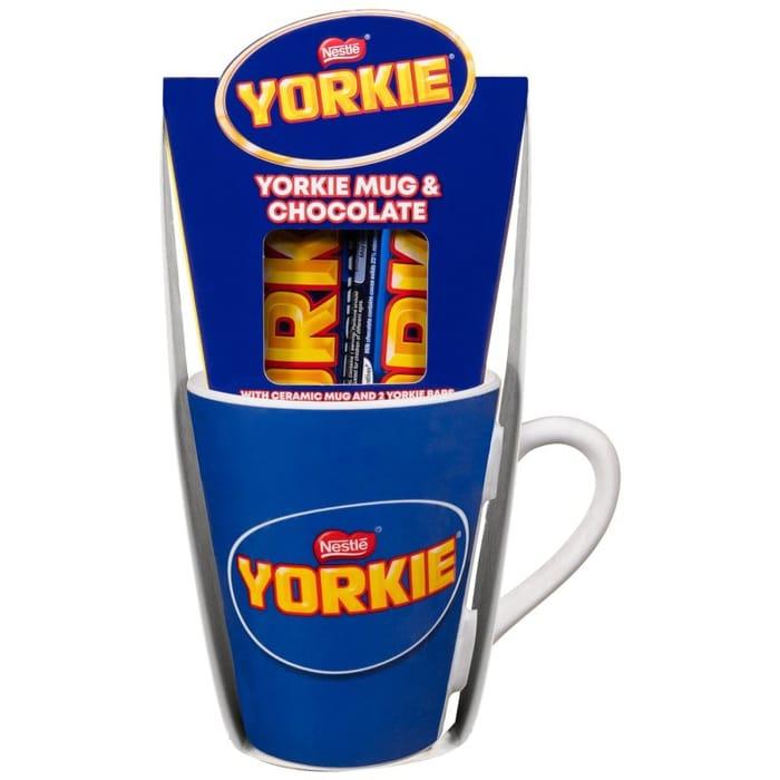 Cheap Yorkie Mug & Chocolate Bars 2pk - Save £1.50! at B&M