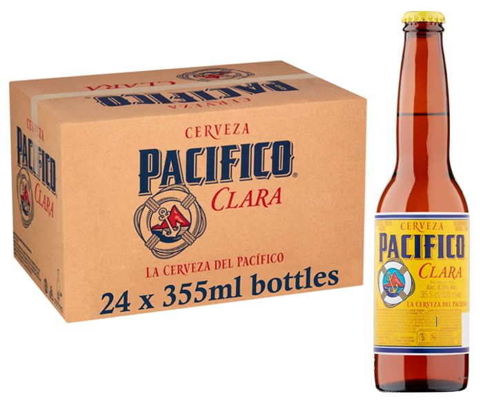 Pacifico Clara Mexican Lager Beer - 24 Bottles + FREE DELIVERY