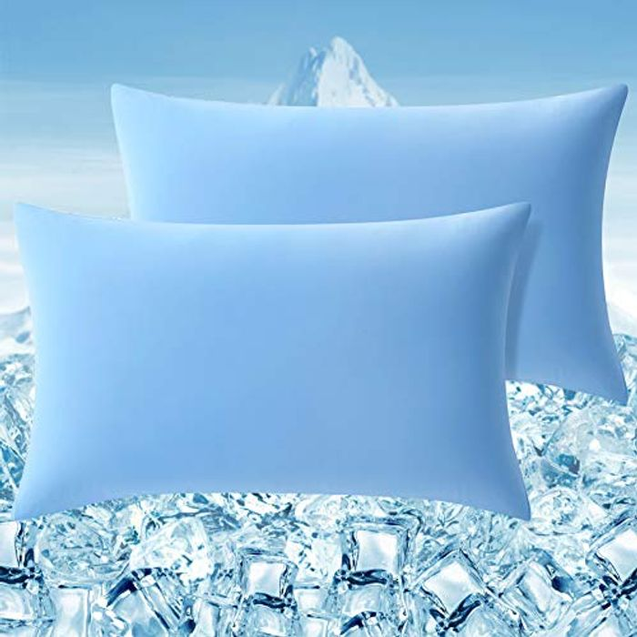 DEAL STACK - Cooling Fiber High Elasticity Pillowcases, 2 Packs + 20% Coupon