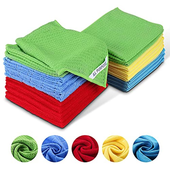 Pack of 25 Absorbent Multi-Purpose Soft Cleaning Towels Label,Reusable,Lint Free