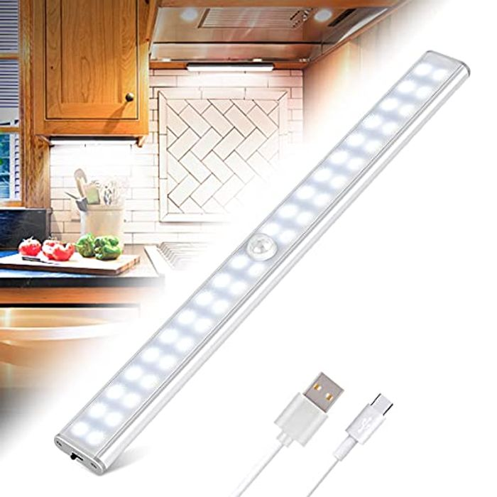 40LED USB Rechargeable Closet Light with Stick-on Magnetic Strip