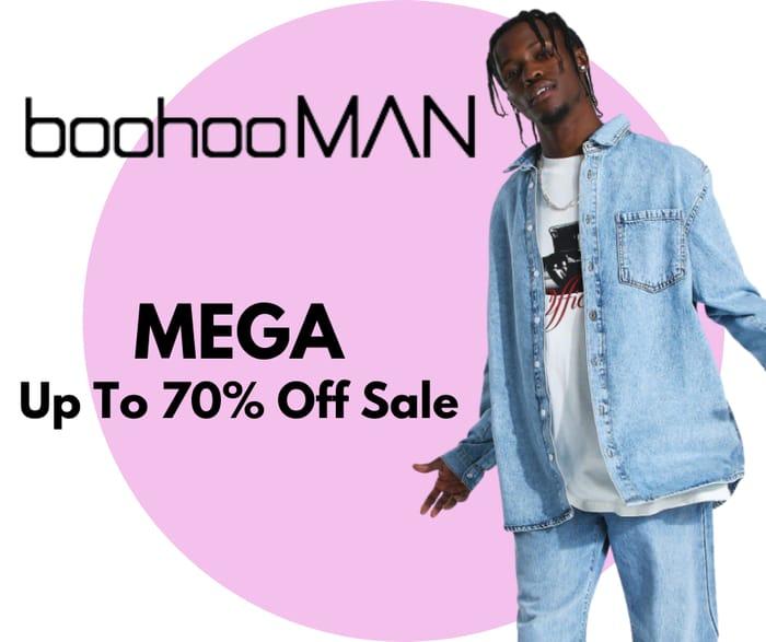 boohooMAN MEGA Up To 70% Off Sale - Inc. £1 Sunglasses, £2 Vest & £5 Shirt
