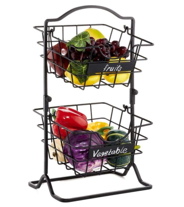 50% off 2-Tier Hanging Fruit Basket Only £13.49 Delivered