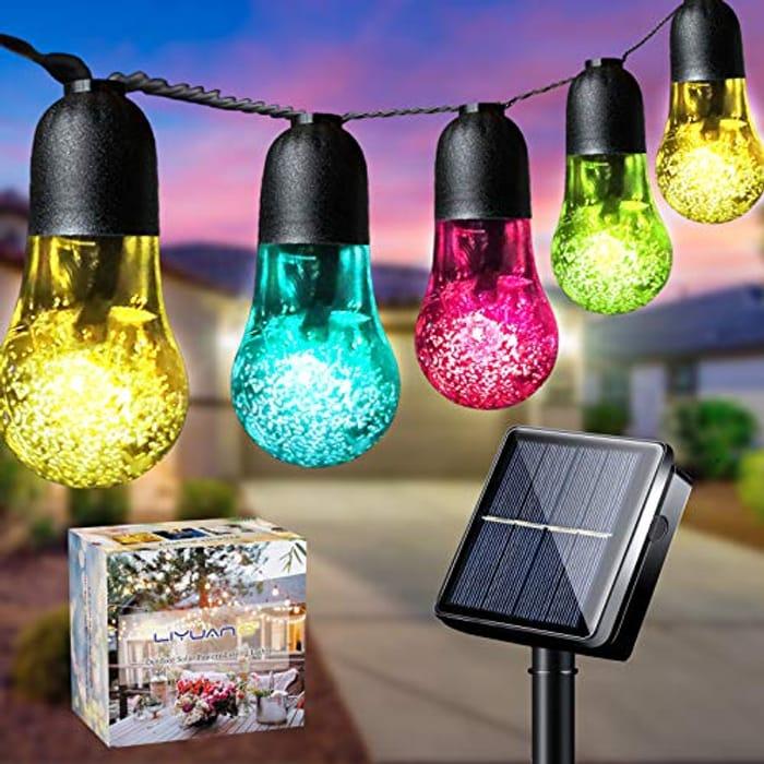 DEAL STACK - LiyuanQ Solar String Lights Garden 33Ft 50LED + 15% Coupon