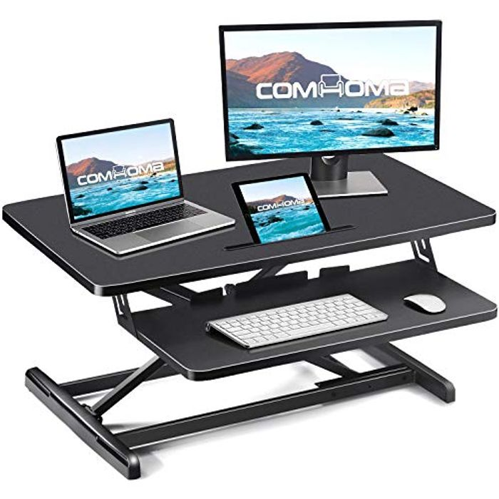 """DEAL STACK - COMHOMA Standing Desk 34.6"""", Single Hand Height + 5% Coupon"""