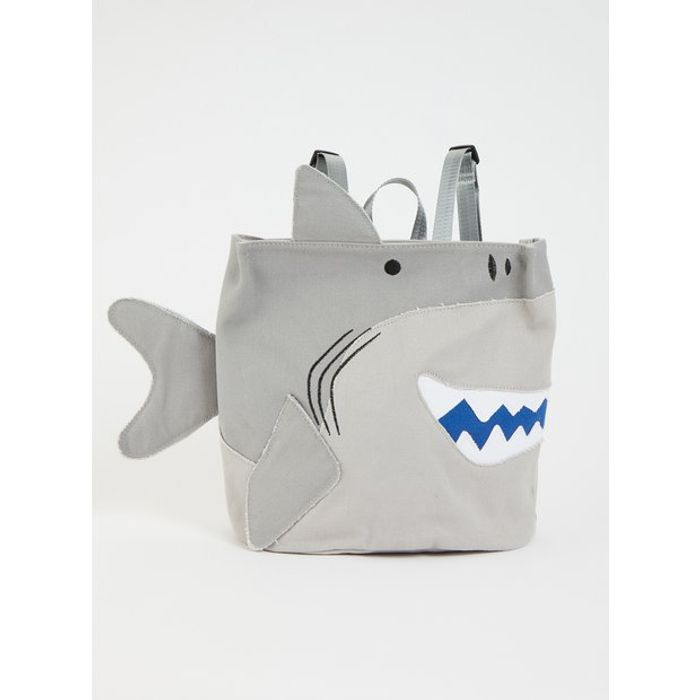 Grey Shark Backpack - One Size