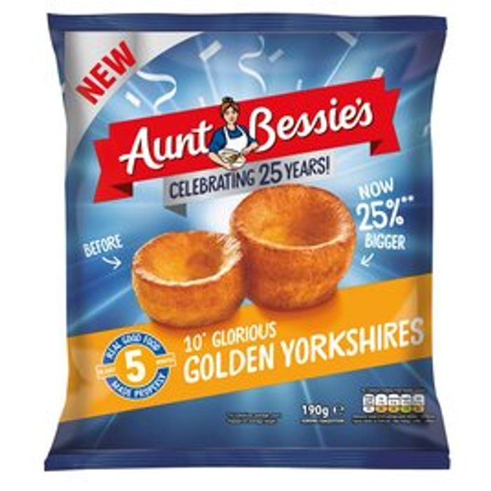 Best Price! Aunt Bessie's 10 Glorious Golden Yorkshire Puddings 190G