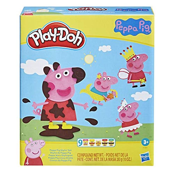 Play-Doh Peppa Pig Set with 9 NonToxic Modeling Compound Cans 11 Accessories