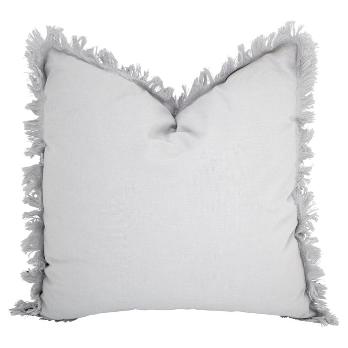 Mrs Hinch Frayed Edge Grey Cushion *Reduced To Clear