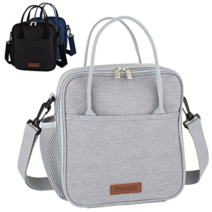 Insulated Lunch Bag with Bottle Holder
