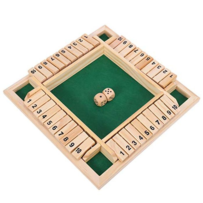 AMOLEY Wooden Board Game, Classic Dice Game - Only £6.99!