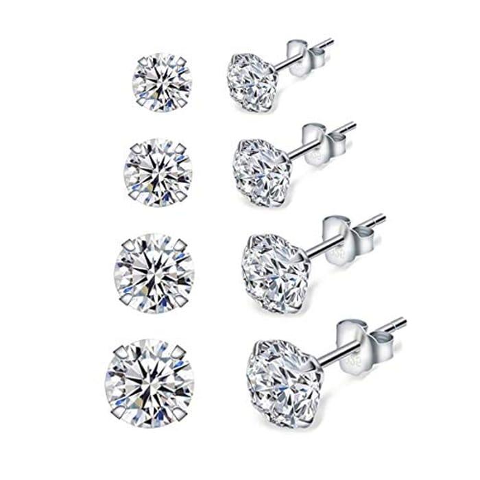 Shuxin Silver Stud Earrings for Women - Only £9.79!